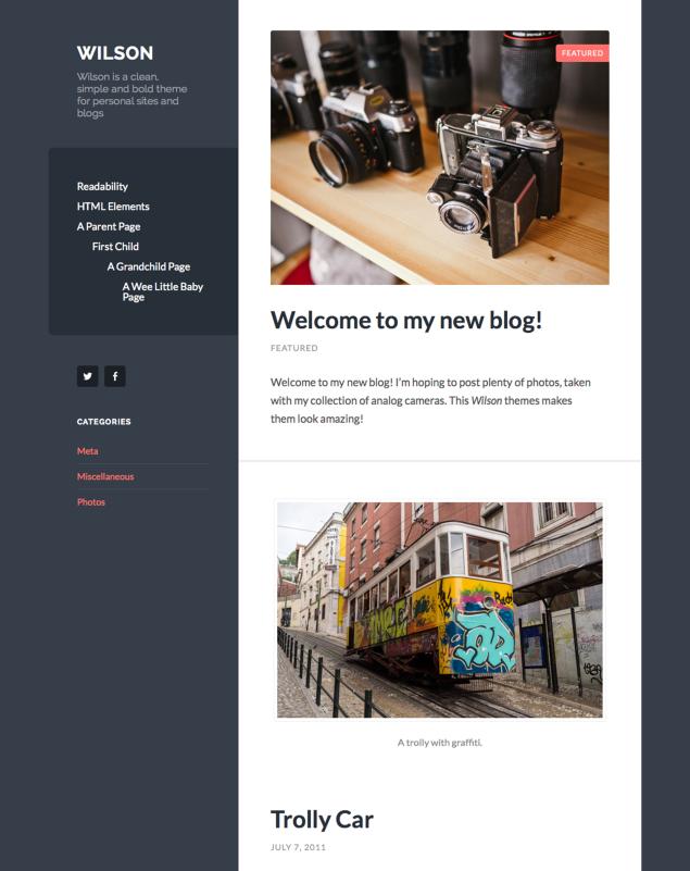 Wilson Blog page